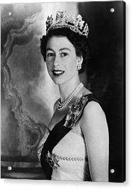 British Royalty. Queen Elizabeth II Acrylic Print by Everett