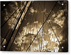 Brooklyn Bridge Acrylic Print by Patrick  Flynn