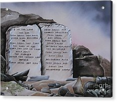 10 Commandments Acrylic Print by RJ McNall