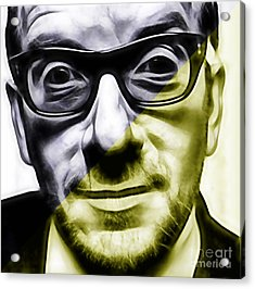 Elvis Costello Collection Acrylic Print by Marvin Blaine