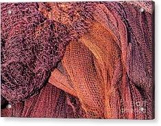 Fishing Nets  Acrylic Print by George Atsametakis