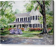 Acrylic Print featuring the painting Home Portrait by Gloria Turner