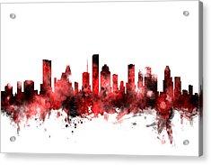 Houston Texas Skyline Acrylic Print