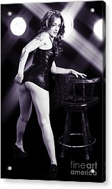 Katy Female Nude Fine Art Print Or Picture In Black And White Se Acrylic Print by Kendree Miller