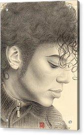Michael Jackson #four Acrylic Print by Eliza Lo