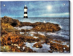 Penmon Lighthouse Acrylic Print by Ian Mitchell