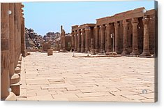 Acrylic Print featuring the photograph Temple Of Isis by Silvia Bruno