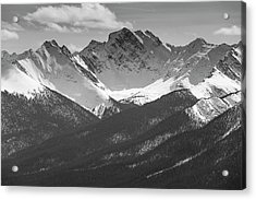 Acrylic Print featuring the photograph The Rockies by Josef Pittner