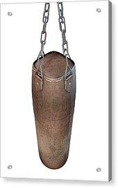 Vintage Leather Punching Bag Acrylic Print