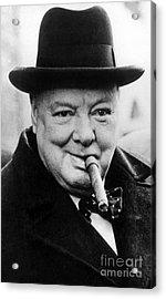 Winston Churchill Acrylic Print by English School