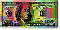 Benjamin Franklin - Full Size $100 Bank Note Acrylic Print