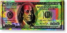 Benjamin Franklin - Full Size $100 Bank Note Acrylic Print