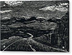 100 Miles Acrylic Print by Maria Arango Diener
