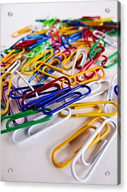 100 Paperclips Acrylic Print