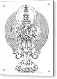 1000-armed Avalokiteshvara Acrylic Print by Carmen Mensink