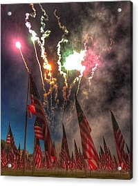 1,000-flag Charlestown Field Of Honor  Acrylic Print