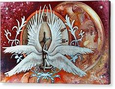 Seraphim Next To A Drop Acrylic Print by Ramona Boehme