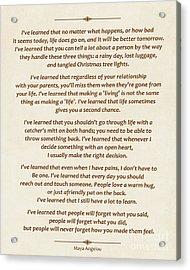 101-  Maya Angelou Acrylic Print