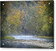 1010-3979 Buffalo River Boxley Valley Fall Acrylic Print by Randy Forrester