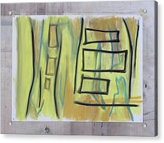 Acrylic Print featuring the pastel 1016 by Stefan Hermannsson