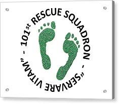 101st Rescue Squadron Acrylic Print by Julio Lopez