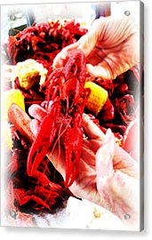 102715 Louisiana Lobster Acrylic Print by Garland Oldham