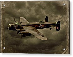 Acrylic Print featuring the photograph 103 Squadron Avro Lancaster by Steven Agius