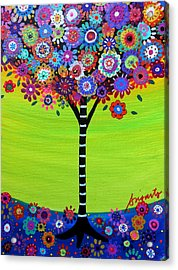 Tree Of Life Acrylic Print by Pristine Cartera Turkus