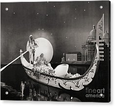 Silent Still: Man & Woman Acrylic Print by Granger