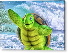 10731 Myrtle The Turtle Acrylic Print