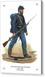 107th Pennsylvania Infantry Regiment - Fall Of 1862 Acrylic Print by Mark Maritato