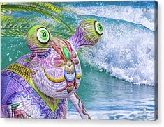 10859 Aliens In Paradise Acrylic Print by Pamela Williams