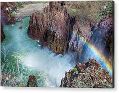 10883 Rainbow Over Owyhee Acrylic Print