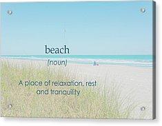 10967 Beach Tranquility Acrylic Print