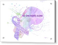 10969 No One Fights Alone Acrylic Print