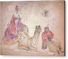 A Camel Story Album  Acrylic Print by Debbi Saccomanno Chan