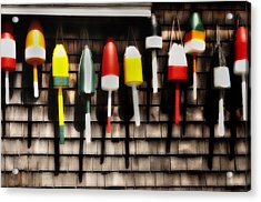 11 Buoys In A Row Acrylic Print by Expressive Landscapes Fine Art Photography by Thom