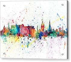 Edinburgh Scotland Skyline Acrylic Print by Michael Tompsett