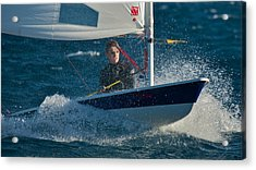 Lake Tahoe Sailboat Racing Acrylic Print