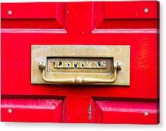 Letterbox Acrylic Print by Tom Gowanlock
