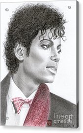 Michael Jackson #five Acrylic Print by Eliza Lo