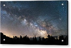 11 Mile Milky Way Acrylic Print by Darren  White