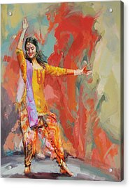 11 Pakistan Folk Punjab Acrylic Print by Maryam Mughal