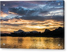 Sunrise Scenery In The Morning Acrylic Print