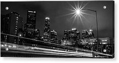 110 Freeway Los Angeles Acrylic Print by April Reppucci