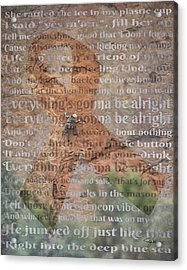 11059 Everything Will Be Alright Acrylic Print