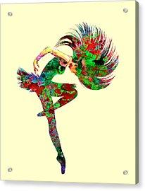 Dance Acrylic Print by Elena Kosvincheva