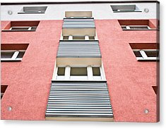 Apartment Building Acrylic Print by Tom Gowanlock