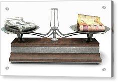 Balance Scale Comparison Acrylic Print