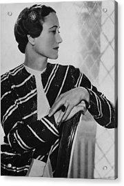 Duchess Of Windsor Wallis Simpson Acrylic Print by Everett
